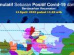 Peta Sebaran Positif COVID-19 dan PDP Batam, 14 April 2020 11
