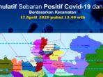 Peta Sebaran Positif Corona dan PDP Batam, 17 April 2020 10