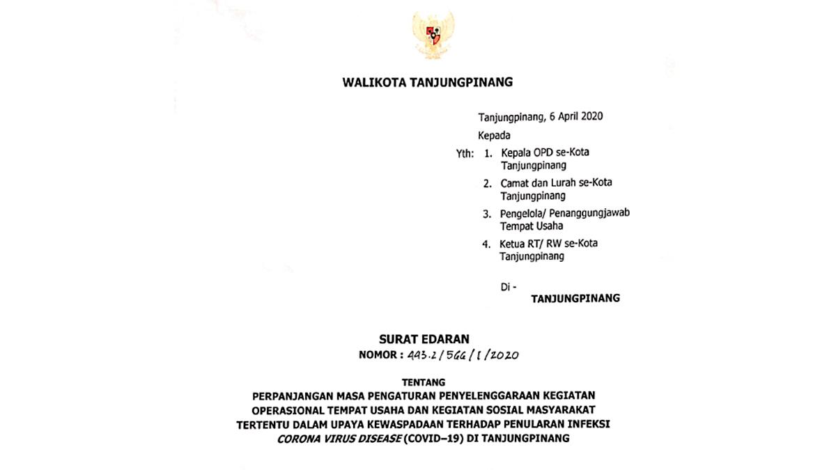SE Walikota Terbaru, Kedai Kopi dan Rumah Makan Dilarang Sediakan Meja dan Kursi 1