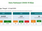 Update COVID-19 Riau, Positif 16, Sembuh 2, Meninggal 16 Orang 8