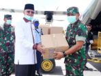 Pemko Terima Bantuan APD dan 5000 Masker dari Mabes TNI 7
