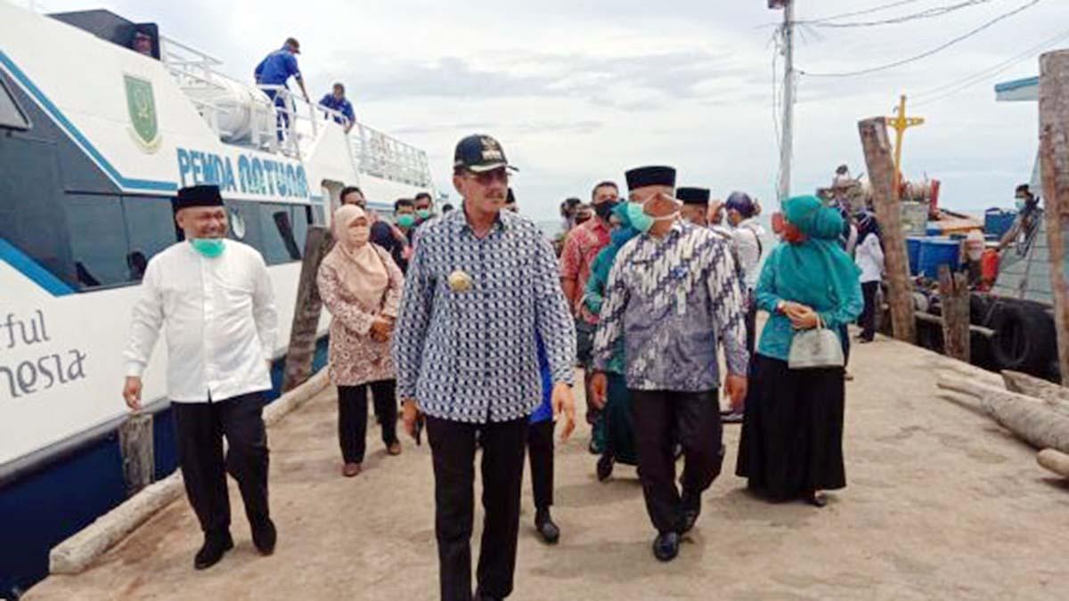 Ke Midai, Bupati Natuna Ajak Dua Anggota DPRD 7