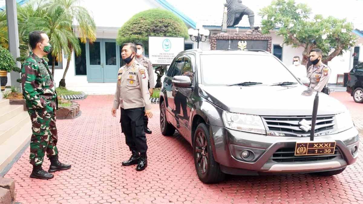 Usai Tinjau Satuan Internal, Kapolres Karimun Kunjungi Lanal TBK 3