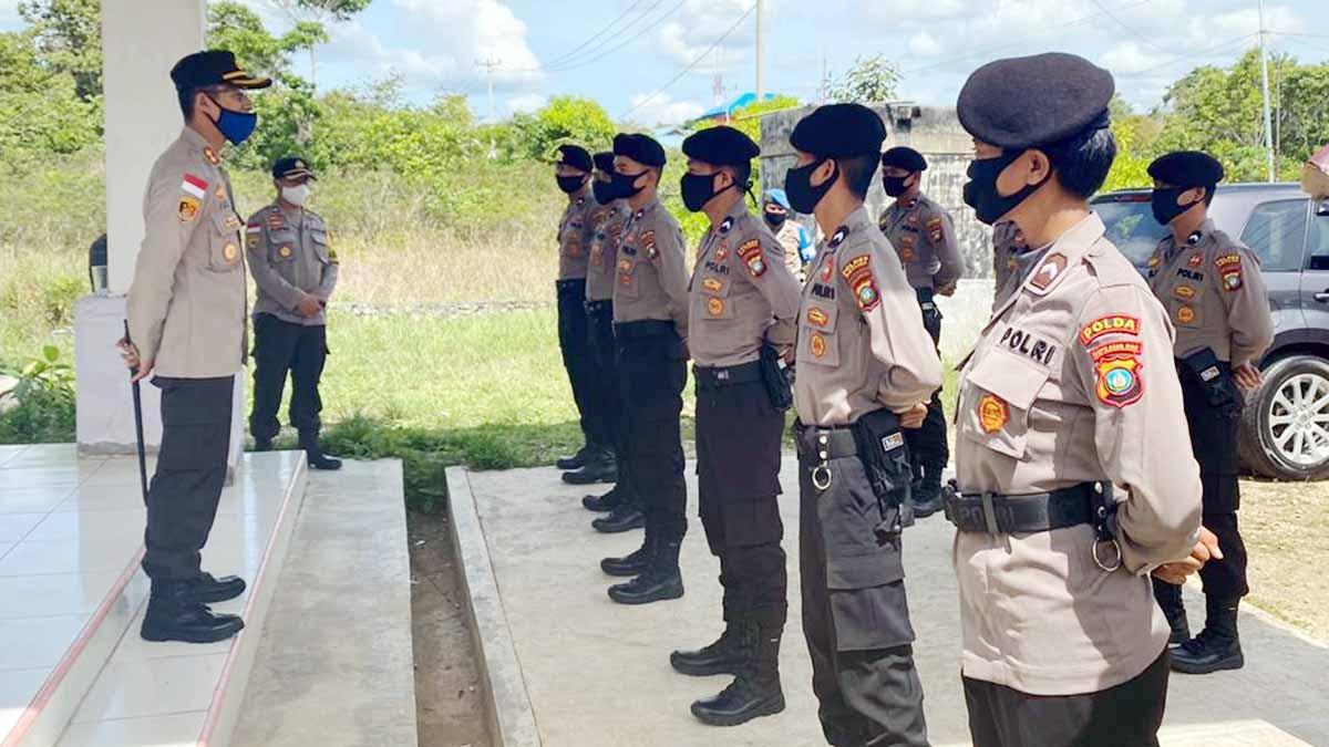 Personil Polda Kepri Yang Tugas ke Polres Natuna Dilakukan Rapid Tes 1