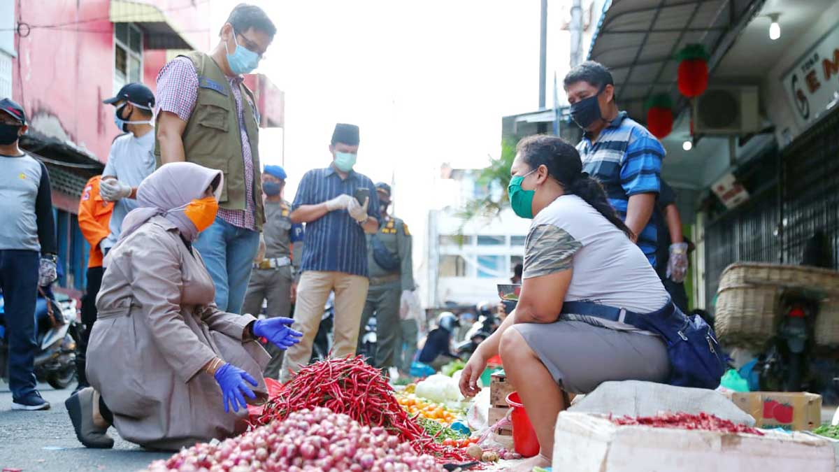 Plt Walikota Tanjungpinang Sidak ke Pasar 1