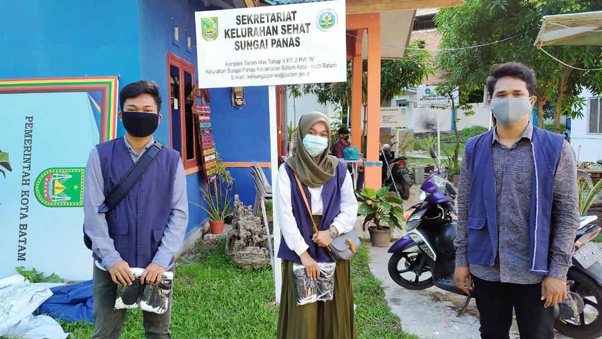 Kukerta, Mahasiswa UNRI Jadi Relawan COVID-19 di Batam 6