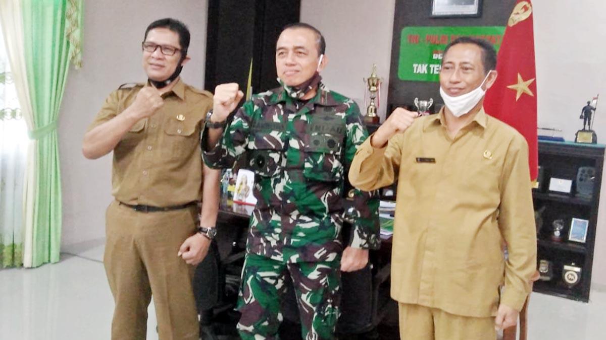 Kesbangpol dan BPBD Kepri Bersilarahmi Dengan Danrem 033/WP 3