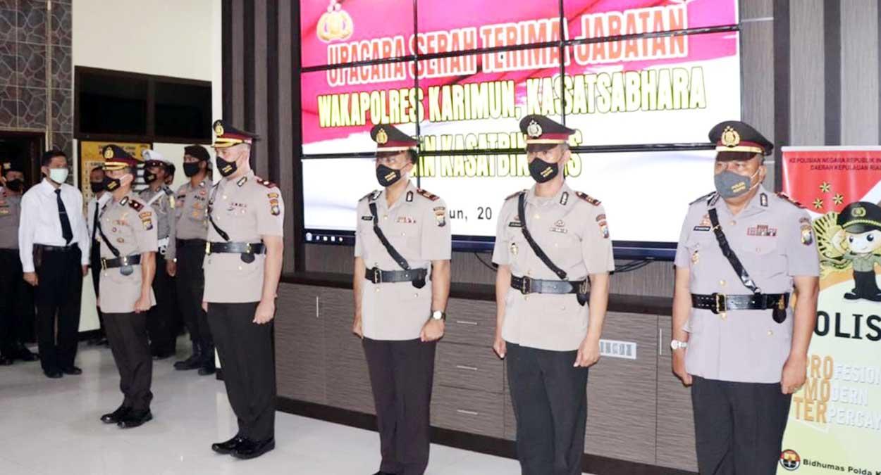 Tiga Jabatan Utama di Mapolres Karimun Diserahterimakan 1