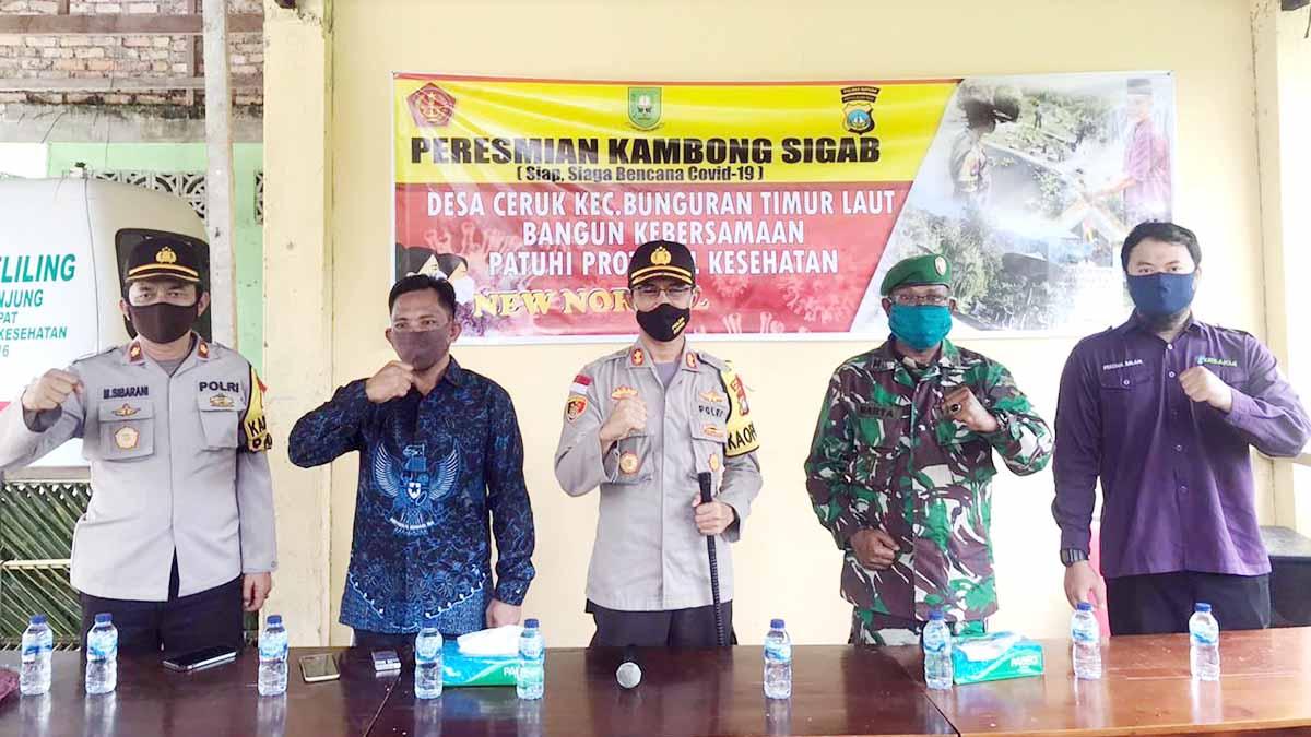 Kapolres Natuna Resmikan Kambong SIGAP Bencana COVID-19 1