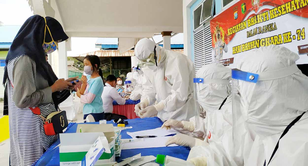 164 Warga Bintan Utara Ikuti Rapid Test Gratis 1