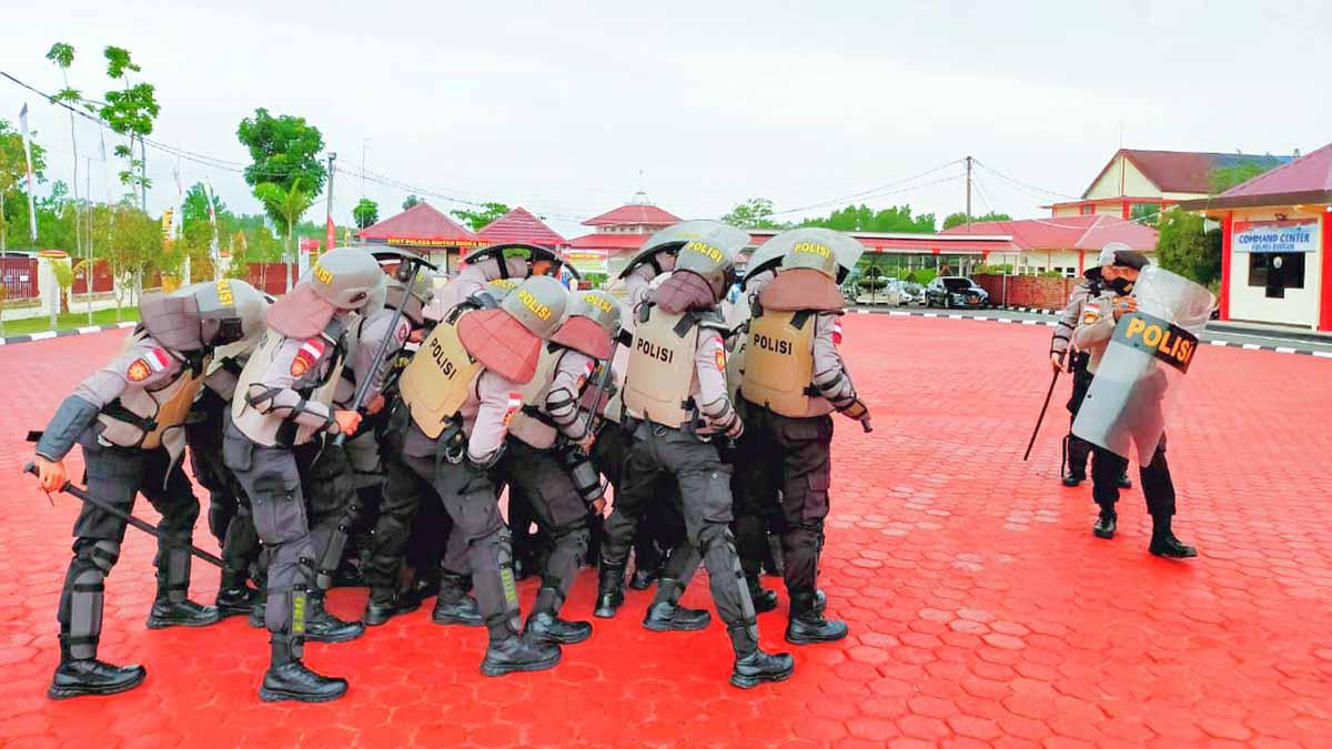 Satuan Sabhara Polres Bintan Gelar Latihan Dalmas 4