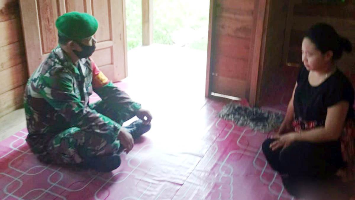 Lakukan Anjangsana, Babinsa Desa Limau Manis Tampung Keluhan Warga 1