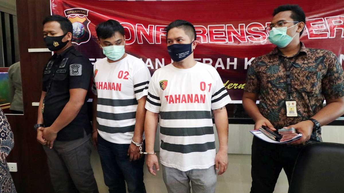Ditreskrimum Polda Kepri Amankan 2 Pelaku Penyelundupan 3 Jenazah 2