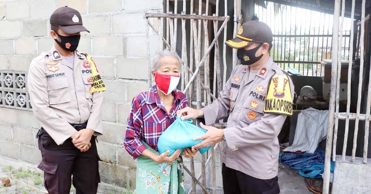 HUT RI Ke 75, Polres Lingga Bagikan 1.000 Paket Sembako 5