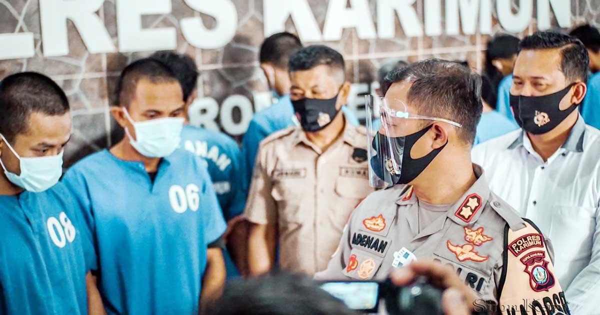 Polres Karimun Tangkap 7 Pengedar Narkoba, Berhasil Amankan 183,58 Gram Sabu dan 100,75 Gram Ganja 3