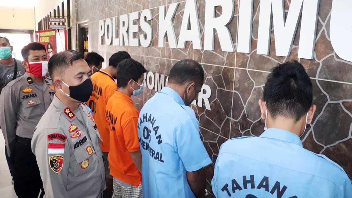 Polres Karimun Tangkap 3 Pencuri Sepeda Motor dan 2 Penadah 34