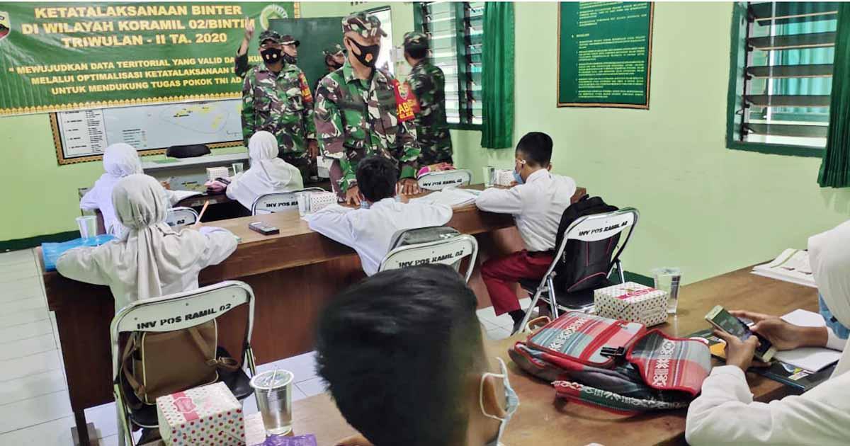 Koramil 02 Bintan Timur Sediakan Internet Gratis Buat Siswa dan Warga 1