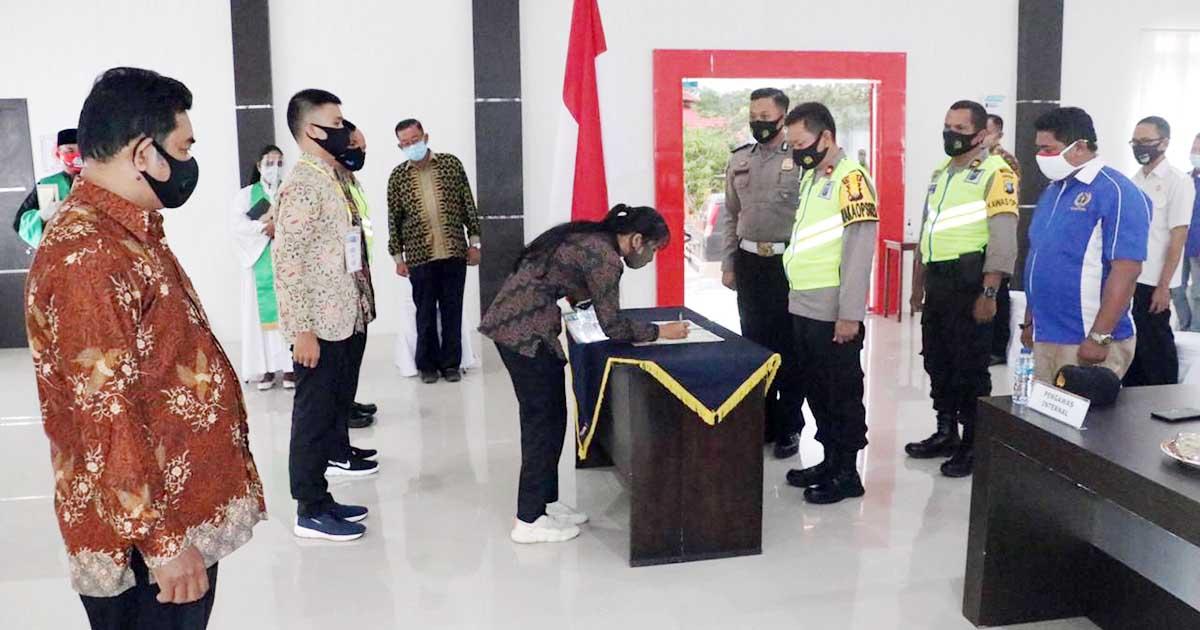 Polres Lingga Gelar Penandatanganan Pakta Integritas Penerimaan Polri 2