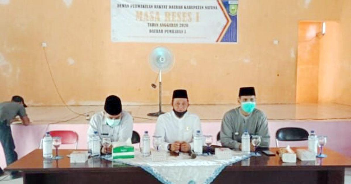 Anggota DPRD Natuna dari Partai Golkar, Eri Marka, melaksanakan reses di Desa Cemaga Utara, Kecamatan Bunguran Selatan