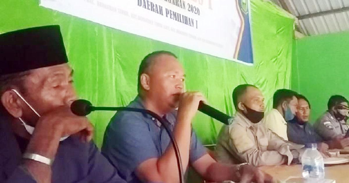 Anggota DPRD Natuna, dari Partai Perindo, Eryandy, melakukan pertemuan untuk mendengar dan menampung Aspirasi Masyarakat Desa Ceruk, Kecamatan Bunguran Timur Laut