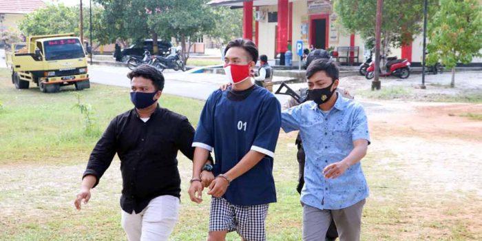 Baru Tiba dari Batam, Pengedar Narkotika Ini Langsung Diringkus di Pelabuhan Roro Jagoh 19