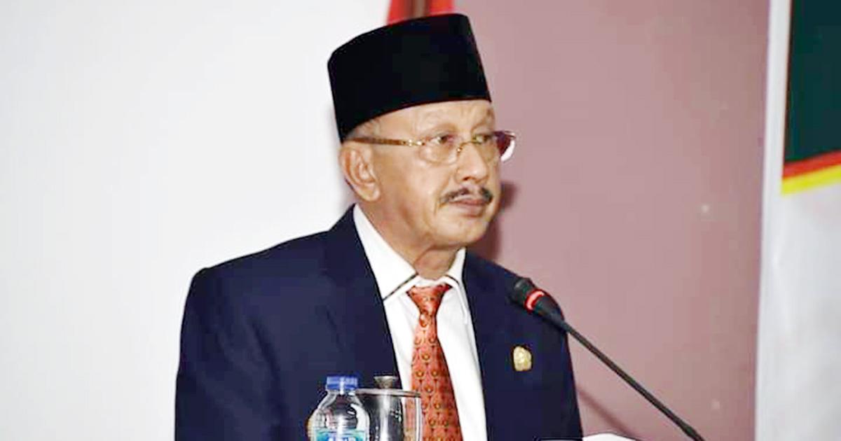 Bupati Natuna, Abdul Hamid Rizal, menyampaikan Pidato Nota Keuangan RAPBD Kabupaten Natuna Tahun Anggaran 2021