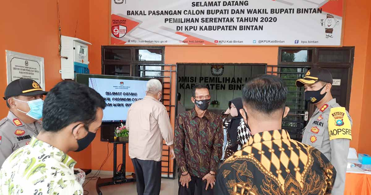 Selama Proses Pilkada, Polres Bintan Berikan Pengamanan 24 Jam di Kantor KPU 3
