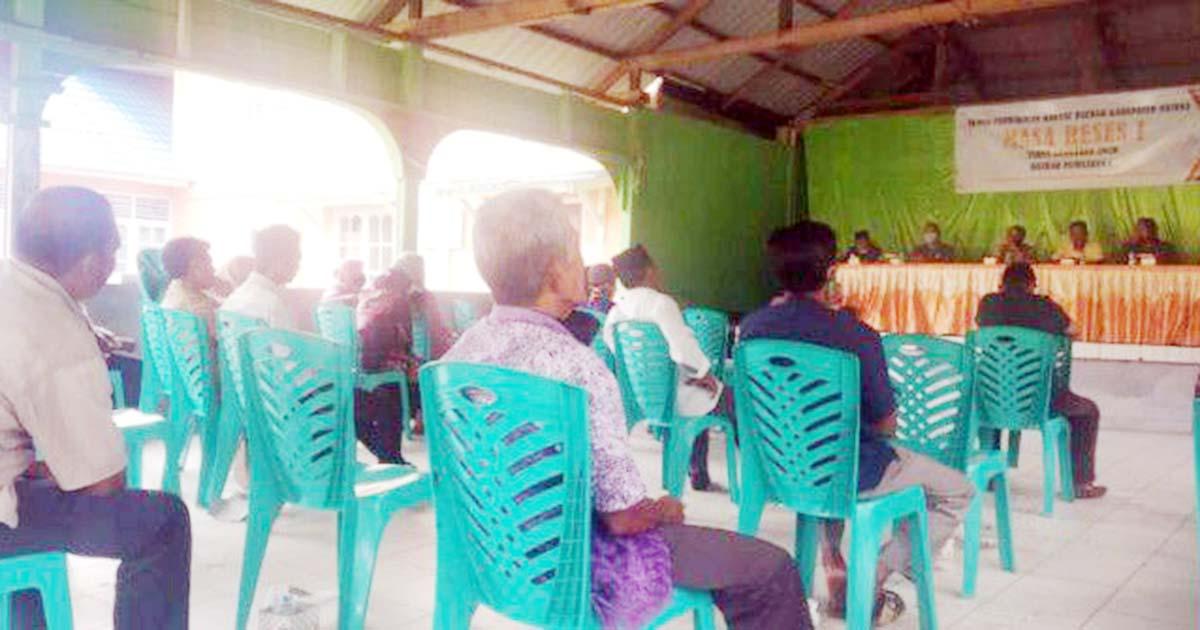 Masyarakat Desa Ceruk, Kecamatan Bunguran Timur Laut, mengikuti kegiatan reses I tahun 2020, Anggota DPRD Natuna, Eryandy