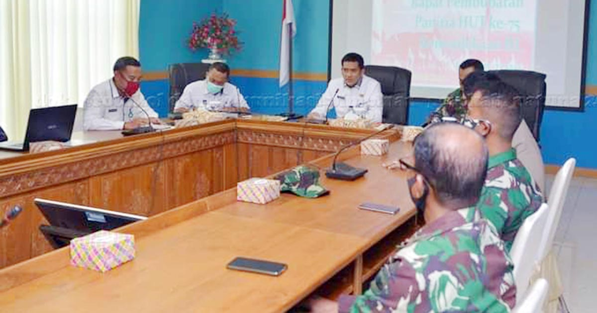 Plt Sekda Natuna Pimpin Acara Pembubaran Panitia HUT RI ke 75 4
