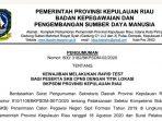 Pengumuman Rapid Test Peserta SKB CPNS Provinsi Kepri 8