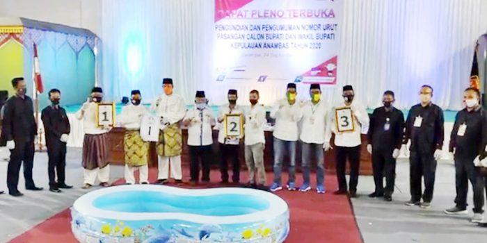 Pilkada Anambas, Abdul Haris-Wan Zuhendra 1, Yusrizal-Faturrahman 2, Fachrizal-Johari 3 30