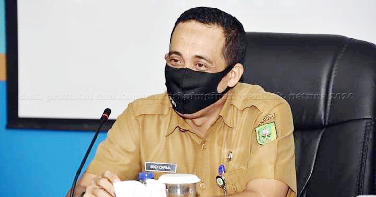 Plt Asisten Pemerintahan Sekretariat Daerah (Setda) Kabupaten Natuna, Budi Darma, menyampaikan kata sambutan