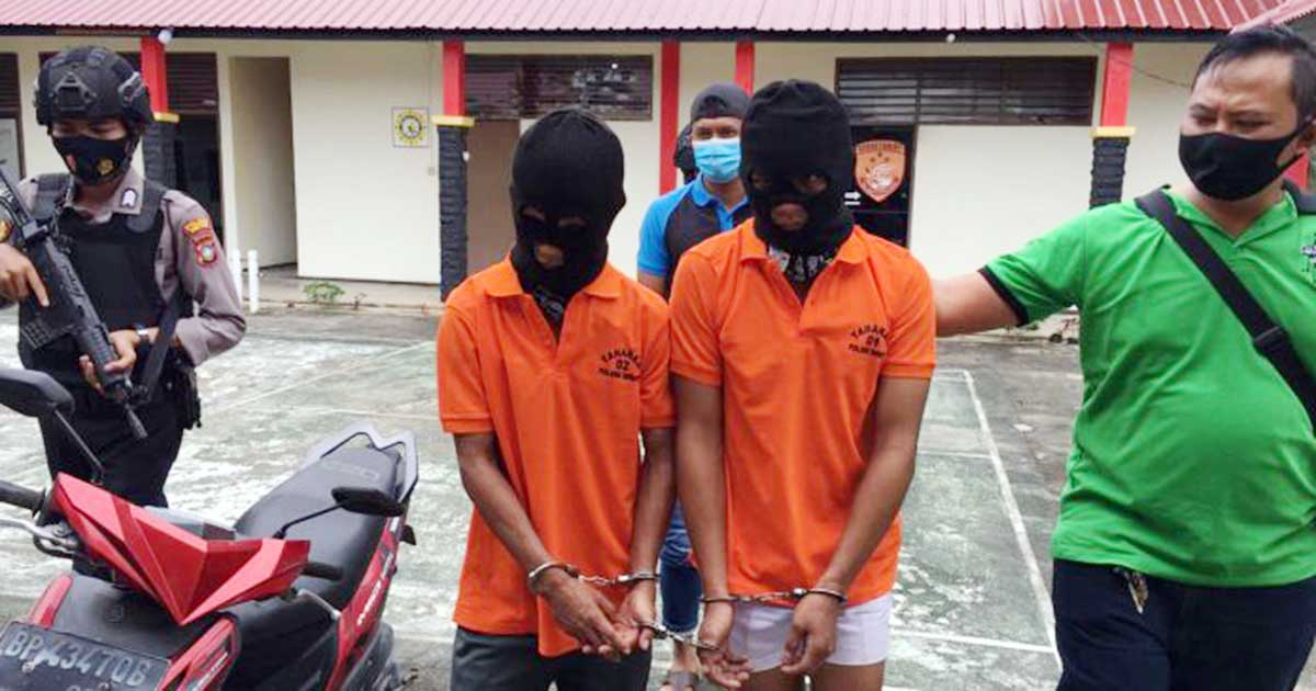 Sempat Kabur ke Hutan, 2 Pencuri Tabung Gas Ini Ditangkap Polsek Bintan Utara 2
