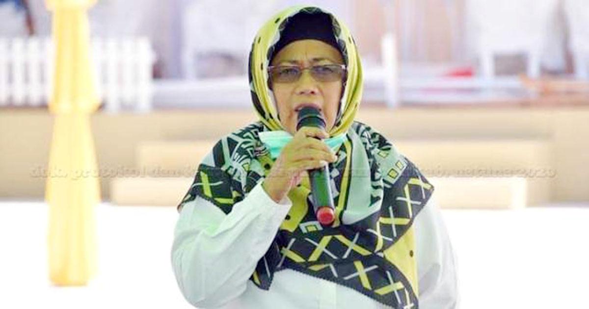 Wakil Bupati Natuna, Ngesti Yuni Suprapti, menyampaikan kata sambutan