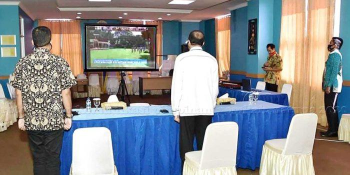 Bupati Natuna Hadiri Vidcon Peringatan Hari Kesaktian Pancasila Bersama Presiden Jokowi 3