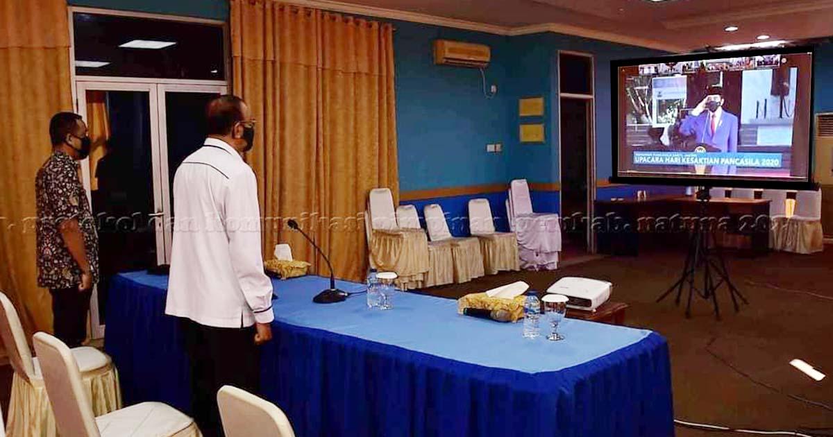Bupati Natuna Hadiri Vidcon Peringatan Hari Kesaktian Pancasila Bersama Presiden Jokowi 1