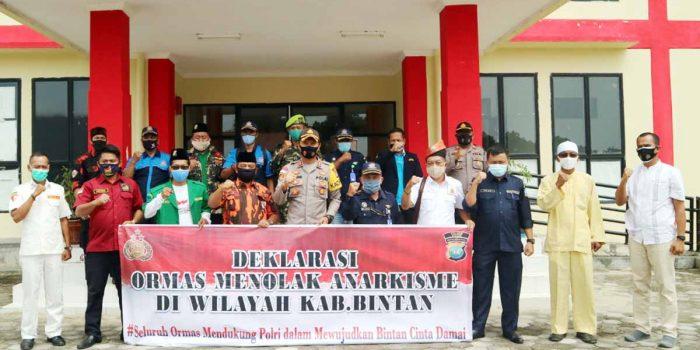 Ormas Bintan Deklarasi Tolak Anarkisme 23