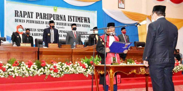 Daeng Amhar Resmi Jabat Ketua DPRD Kabupaten Natuna 2