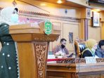 Plt. Wali Kota Tanjung Pinang, Rahma, menyampaikan Nota Pengantar Laporan Keterangan Pertanggungjawaban (LKPJ) Walikota Tanjungpinang Tahun 2019