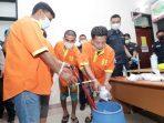 Ditresnarkoba Polda Kepri Musnahkan 1.9 Kg Sabu dari 4 Pengedar Narkoba 4