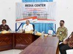 Bupati Natuna Hadiri Vidcom Penandatanganan Kontrak Pembangunan PLBN Terpadu Serasan 7
