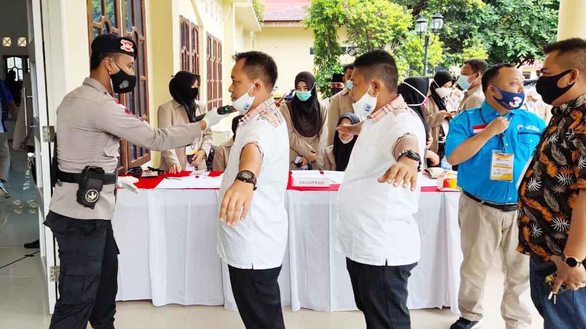 90 Personel Gabungan TNI-Polri Lakukan Pengamanan Debat Pilkada Lingga 1
