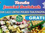 Bagikan Makanan Gratis, Polres Tanjung Pinang Dirikan Tenda Jumat Barokah 11