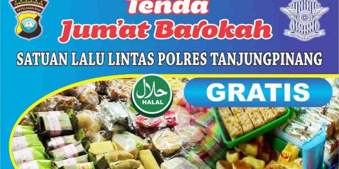 Bagikan Makanan Gratis, Polres Tanjung Pinang Dirikan Tenda Jumat Barokah 25