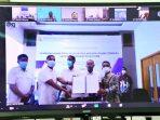 Vidcon Penandatanganan Kontrak, serta Dokumen Konstruksi Pembangunan Pos Lintas Batas Negara (PLBN) Terpadu Serasan
