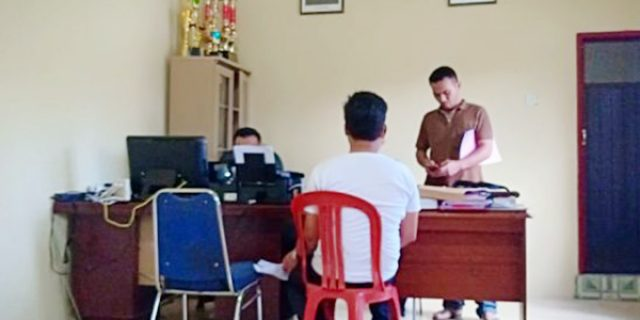 Wartawan DATARIAU.COM Laporkan PERPAT Natuna Ke Satreskrim Polres Natuna