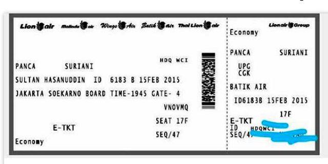 Klarifikasi Pemberitaan Tentang Kejanggalan Boarding Pass Pesawat Batik Air