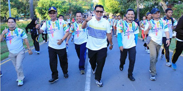 """PEMILU RUN"", Bupati Bintan Ajak Kaum Millenial Tingkatkan Partisipasi Pemilih"