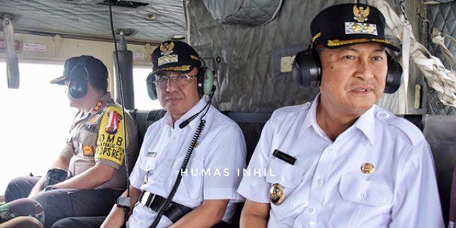 Cegah Karhutla di Inhil, Bupati dan Wakil Pantau dari Udara