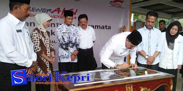 """Hamid Rizal Resmikan """"SD NEGERI 012 RANAI"""""""
